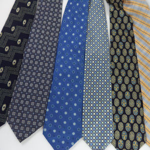 Lot of 6 Blue	Men's Neckties CL1087 0619